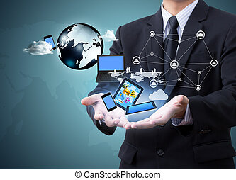 Technology in businessmen hand (technology)