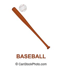 Baseball icon cartoon. Single sport icon from the big fitness, healthy, workout set.