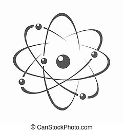 Atom icon cartoon. Single education icon from the big...