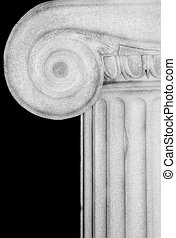 Column Detail - Detail of an Ionic column,