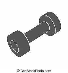 Dumbbells icon cartoon. Single sport icon from the big...