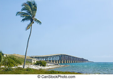 Florida Keys Bridge - Bridge connecting florida keys over...