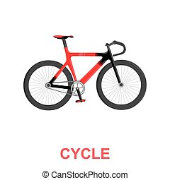 Bicycle icon cartoon. Single sport icon from the big fitness, healthy, workout set.