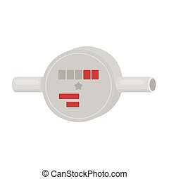 Water meter icon in cartoon style isolated on white...