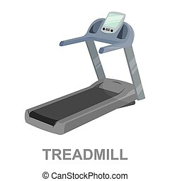 Treadmill icon cartoon. Single sport icon from the big...