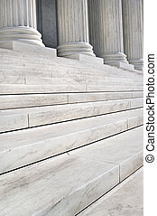Supreme Court - Stairs and Columns of the United States...