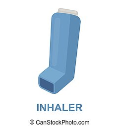 Inhaler icon cartoon. Single medicine icon from the big...