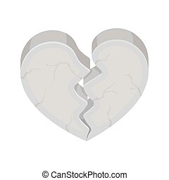 Heart icon in cartoon style isolated on white background...