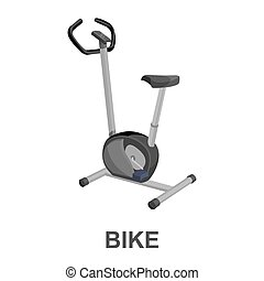 Exercise bike icon cartoon. Single sport icon from the big...