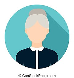 Grandmother icon cartoon Single avatar,peaople icon from the...