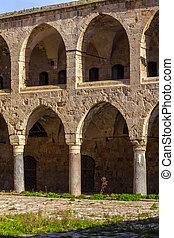 Khan al-Umdan Gallery, Acre - Khan al-Umdan Colonnade in...
