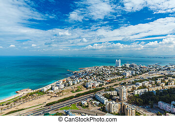 Aerial View of Haifa city, Israel