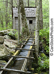 Reagan Mill, Smoky Mountains - Alfred Reagan Grist Mill,...