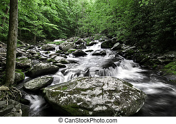 Smoky Mountain Waterfall - Beautiful waterfall in Great...