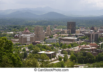 Asheville North Carolina Skyline - Skyline of Asheville...