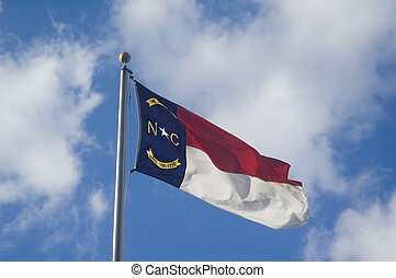 North Carolina flag - The North Carolina State flag flying...