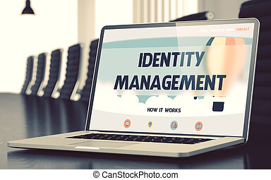 Identity Management Concept on Laptop Screen. 3D.