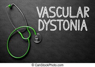 Chalkboard with Vascular Dystonia Concept. 3D Illustration....
