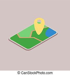 Mobile device with map