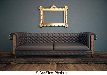 Luxurious interior with see-through frame