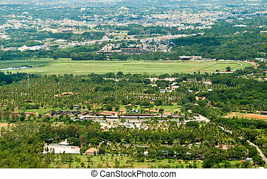 Mysore - An arial view of Mysore, India