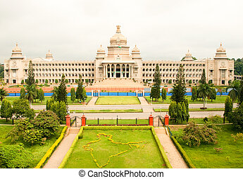 Bangalore - The majestic Vidhana Soudha, the state...