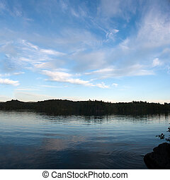 Lower Saranac Lake Panorama - A view of lower Saranac Lake...