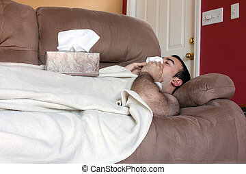 Sick Man on the Couch