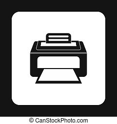 Printer icon in simple style - icon in simple style on a...