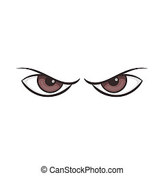 Pair of eyes watching icon, cartoon style - Pair of eyes...