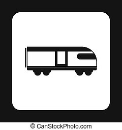 Train icon, simple style - Train icon in simple style...