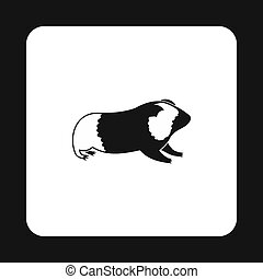 Hamster icon, simple style - Hamster icon in simple style...