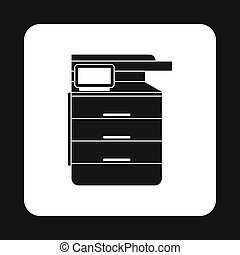 Multipurpose device, fax, copier and scanner icon - icon in...