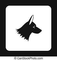 Collie dog icon, simple style - Collie dog icon in simple...