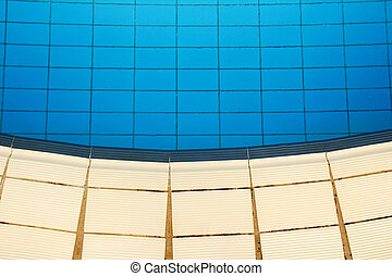 background blue water pool
