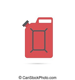 Canister under the petrol, gasoline and engine oil. Modern...