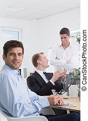 Communication skills are very important - Work space with...
