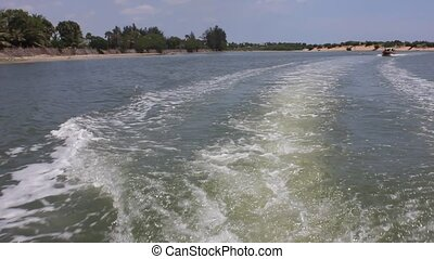 Boat Wake: Water splash from a boat