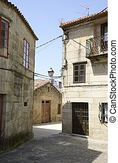 Stone street in Cambados - Stone street in the old part of...