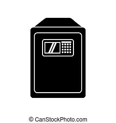 Isolated strongbox object design - Strongbox icon. Object...