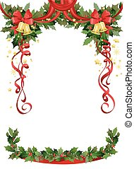 Christmas frame with bells