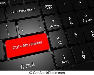 Button Ctrl Alt Delete - Task Manager concept. Laptop...