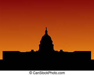 US capitol at sunset - US capitol building Washington DC at...