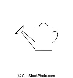flat icon watering can - outline icon watering-can. watering...