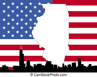 map of Illinois background - map of Illinois on American...