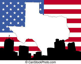 map of Texas background