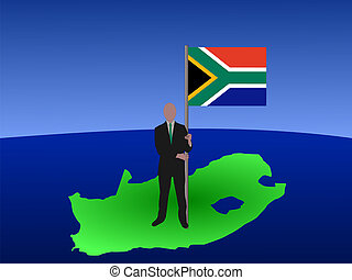 man with South Africa flag