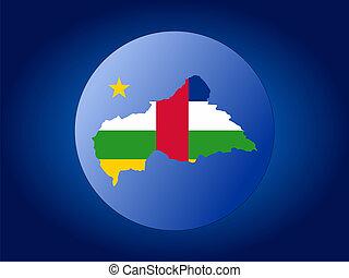 Central African Republic globe