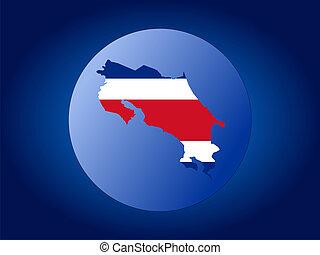 Costa Rica globe