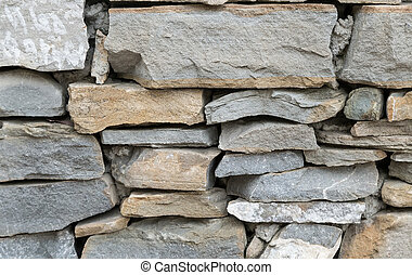 Fragment of an ancient wall from stones. (Background image)...